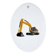EXCAVATOR Oval Ornament