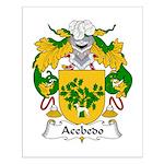 Acebedo Family Crest Small Poster