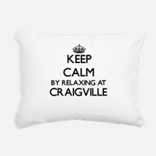 Keep calm by relaxing at Rectangular Canvas Pillow