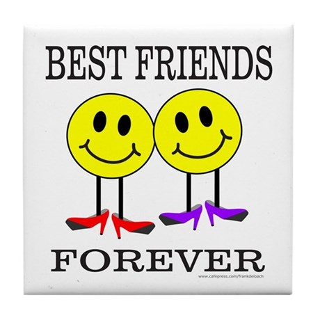 BFF BEST FRIENDS FOREVER Tile Coaster