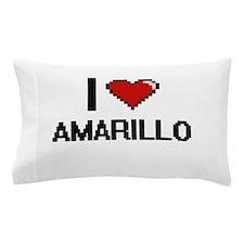 I love Amarillo Digital Design Pillow Case