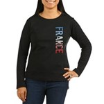 France Women's Long Sleeve Dark T-Shirt