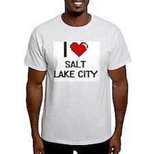 I love Salt Lake City Digital Design T-Shirt