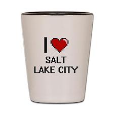 I love Salt Lake City Digital Design Shot Glass