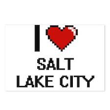 I love Salt Lake City Dig Postcards (Package of 8)