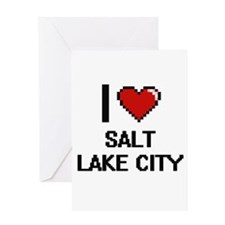 I love Salt Lake City Digital Desig Greeting Cards