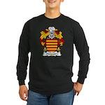 Abogadro Family Crest Long Sleeve Dark T-Shirt