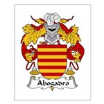 Abogadro Family Crest Small Poster