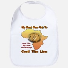 My Heart Goes Out To Cecil The Lion Bib