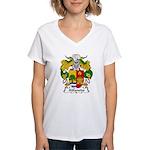 Ablanedo Family Crest Women's V-Neck T-Shirt