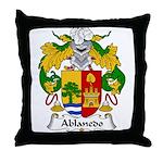 Ablanedo Family Crest Throw Pillow