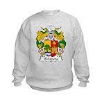 Ablanedo Family Crest Kids Sweatshirt
