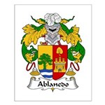 Ablanedo Family Crest Small Poster