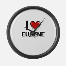 I love Eugene Digital Design Large Wall Clock