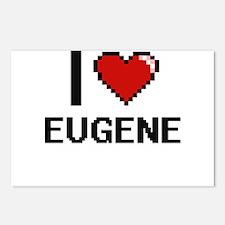 I love Eugene Digital Des Postcards (Package of 8)