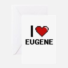 I love Eugene Digital Design Greeting Cards