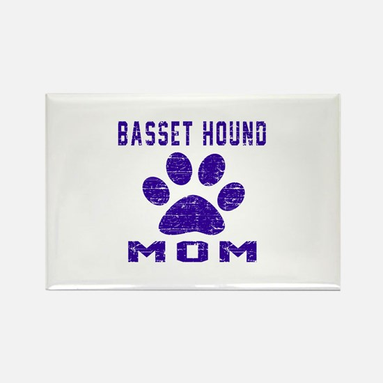 Basset Hound mom designs Rectangle Magnet