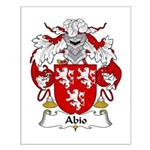 Abio Family Crest Small Poster