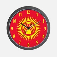 Flag of Kyrgyzstan Wall Clock