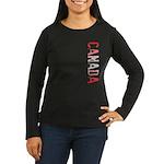 Canada Women's Long Sleeve Dark T-Shirt