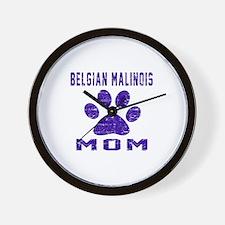 Belgian Malinois mom designs Wall Clock