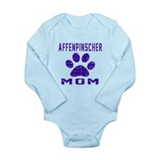 Affenpinscher mom desi Long Sleeve Infant Bodysuit