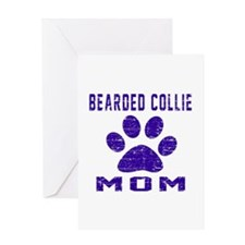 Bearded Collie mom designs Greeting Card