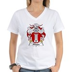 Abiaga Family Crest Women's V-Neck T-Shirt