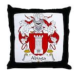 Abiaga Family Crest Throw Pillow