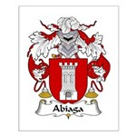 Abiaga Family Crest Small Poster