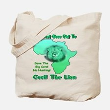 My Heart Goes Out To Cecil The Lion Tote Bag