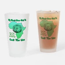 My Heart Goes Out To Cecil The Lion Drinking Glass