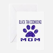 Black & Tan Coonhound mom designs Greeting Card