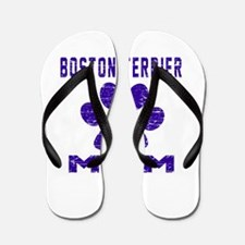 Boston Terrier mom designs Flip Flops