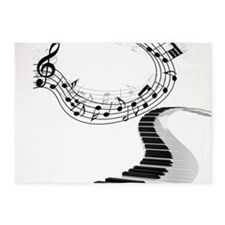 Music 5'x7'Area Rug