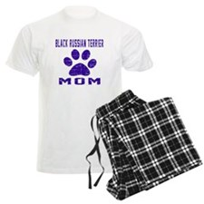 Black Russian Terrier mom des pajamas