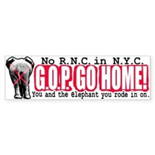 No RNC in NYC Bumper Bumper Sticker