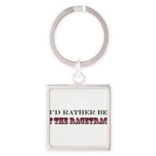 Cute I'd rather be trail riding Square Keychain