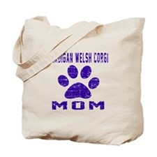Cardigan Welsh Corgi mom designs Tote Bag
