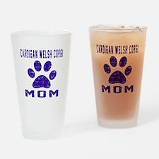 Cardigan Welsh Corgi mom designs Drinking Glass