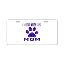 Cardigan Welsh Corgi mom de Aluminum License Plate