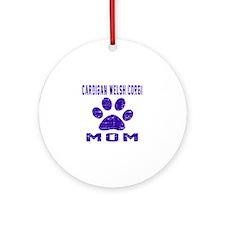 Cardigan Welsh Corgi mom designs Round Ornament