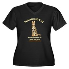 Cute Savannah Women's Plus Size V-Neck Dark T-Shirt