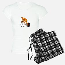 Cyclist Riding Cycling Racing Retro Pajamas
