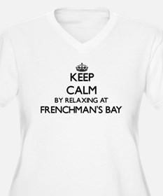 Keep calm by relaxing at Frenchm Plus Size T-Shirt