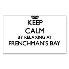 Keep calm by relaxing at Frenchman'S Bay V Decal