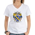 Abelda Family Crest Women's V-Neck T-Shirt