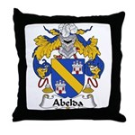 Abelda Family Crest Throw Pillow