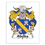 Abelda Family Crest Small Poster