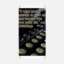 """Courage"" Vintage Typewriter Banner"